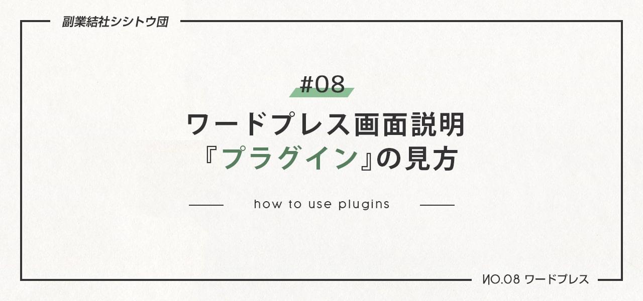 プラグインページの使い方